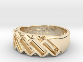 US10 Ring XVII: Tritium in 14K Yellow Gold