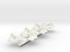 Themis Class Light Cruiser X6 - 1:20000 scale in White Strong & Flexible Polished