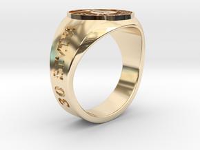 Superball Legman Ring in 14K Yellow Gold