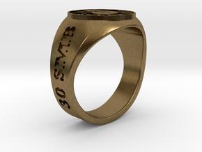 Superball Legman Ring in Natural Bronze