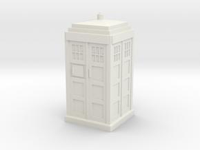 1/87 Scale MacKenzie Trench Call Box in White Natural Versatile Plastic