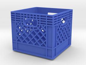 1/10 Scale Milk Crate in Blue Strong & Flexible Polished