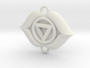 Third Eye Chakra Link in White Natural Versatile Plastic