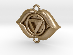 Third Eye Chakra Link in Polished Gold Steel