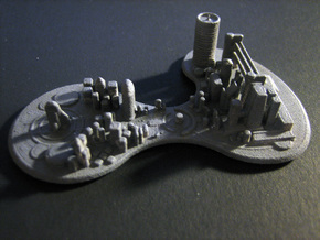 Futuristic city concept in White Natural Versatile Plastic