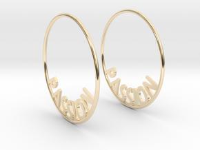 Custom Hoop Earrings - Passion 40mm in 14K Yellow Gold