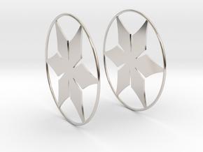 Flowerish 12 Big Hoop Earrings 60mm in Platinum
