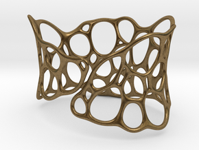 BRACELET Voronoi III in Natural Bronze
