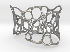 BRACELET Voronoi III in Natural Silver