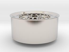 Car Rim for Model Scale 1/24 in Platinum