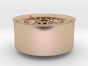 Car Rim for Model Scale 1/24 in 14k Rose Gold