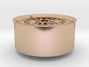 Car Rim for Model Scale 1/24 in 14k Rose Gold