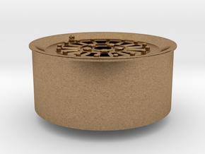 Car Rim for Model Scale 1/24 in Natural Brass