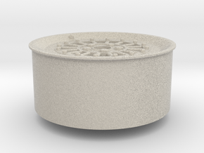 Car Rim for Model Scale 1/24 in Natural Sandstone