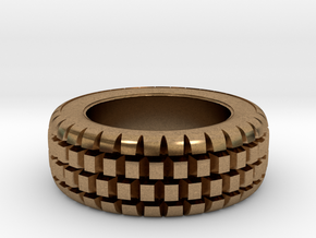 Hard mud tire for 1/24 scale model car in Natural Brass