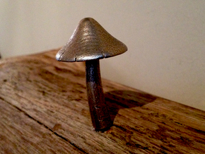 Mushroom Peg #1 in Stainless Steel