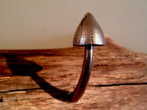 Mushroom Peg #4 in Polished Bronzed Silver Steel