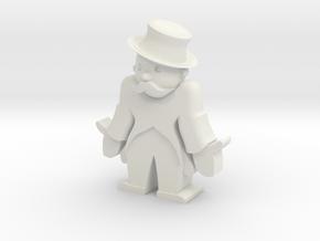 Monopoly man broke in White Natural Versatile Plastic