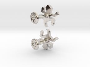 Escher Reptile Cufflinks in Platinum