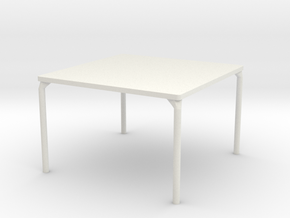 HTLA Square Table: 10% in White Natural Versatile Plastic