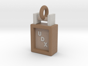 Obedience Scent Article Box UDX Title Pendant in Full Color Sandstone