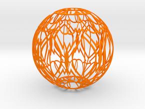 Lampshade(Designer Sphere 2) in Orange Processed Versatile Plastic