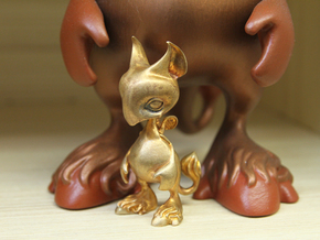 Baby Gryphon figurine 60mm in Natural Bronze