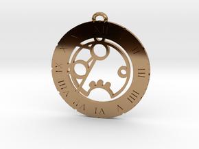Romana - Pendant in Polished Brass