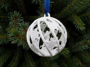 The Star Money Christmas Bulb in White Processed Versatile Plastic