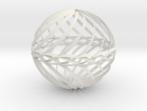 Decorative Ball Twist Spiral V1 in White Natural Versatile Plastic