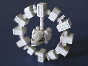 ENDURANCE spacecraft 1/1000 (64mm) in White Strong & Flexible