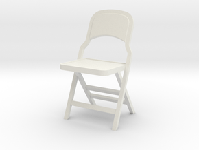 1:24 Vintage Folding Chair in White Strong & Flexible