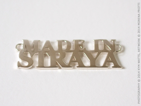 Made in STRAYA Pendant in Fine Detail Polished Silver