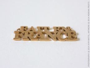 Fait en FRANCE Pendant in Raw Brass