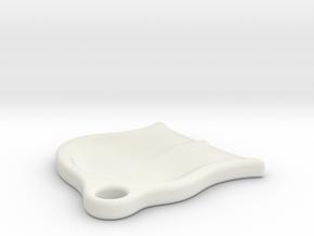 Seat Scoop in White Natural Versatile Plastic