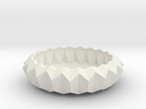 Stylish Faceted Designer Tea Candle Holder - 2,5cm in White Natural Versatile Plastic
