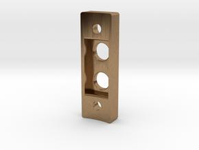 Low profile control box (V2) in Natural Brass