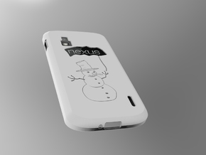 cover Nexus 4 Shell in White Natural Versatile Plastic