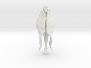 Girl Blossom Pendant in White Natural Versatile Plastic