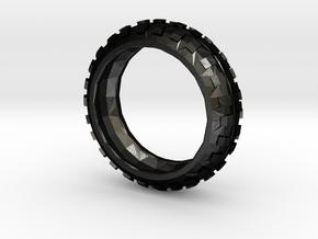Motorcycle/Dirt Bike/Scrambler Tire Ring Size 12 in Matte Black Steel