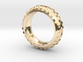 Motorcycle/Dirt Bike/Scrambler Tire Ring Size 13 in 14K Yellow Gold