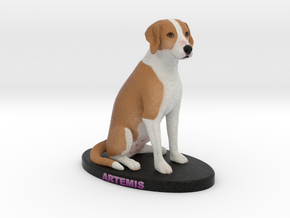 Custom Dog Figurine - Artemis in Full Color Sandstone