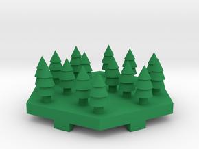 Forrest Tile in Green Processed Versatile Plastic