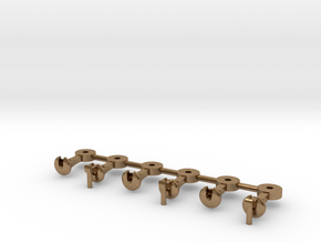 NZ120 NZR Coupler - 3x Pairs Circular  in Natural Brass
