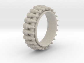 Bullet ring(size = USA 8,Japan 16, Britain P) in Natural Sandstone