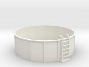 O-Scale 12-Foot Swimming Pool in White Natural Versatile Plastic