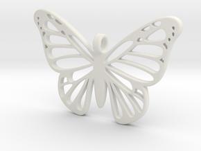 Butterbug 7 in White Natural Versatile Plastic