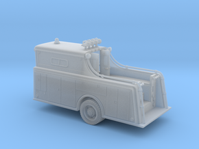 1:87 Classic Fire Rescue Truck Body in Smooth Fine Detail Plastic