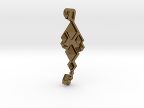 SacredScorpio pendant  in Polished Bronze