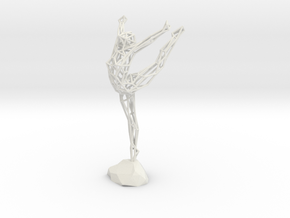Wireframe Ballerina in White Natural Versatile Plastic